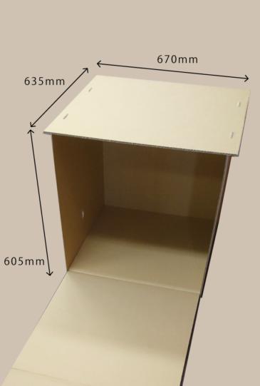 災害用簡易安眠ハウス ボックス部分の寸法